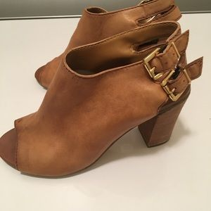 Steven by Steve Madden heeled bootie with open toe